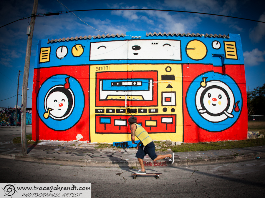 Love THE BOOM BOX - Graffiti Miami Walls - Primary Flight