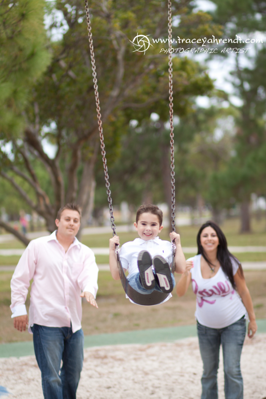 Playing at the park - Maternity session