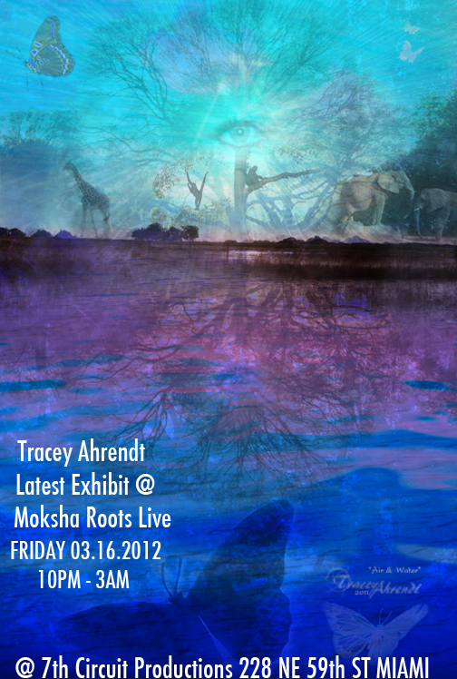 Flyer For Tracey Ahrendt Photographic Artist Latest Exhibit - Miami Florida