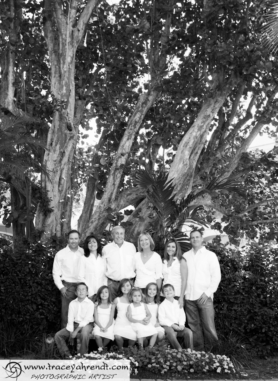 Black and White Family Portraits are always classic